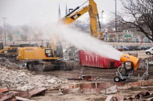Adamo Demolition Project in Downtown Peoria Uses DustBoss DB-60 for Dust Control