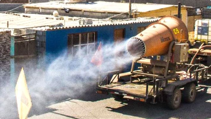 DB-100 on Trailer Disinfecting Areas