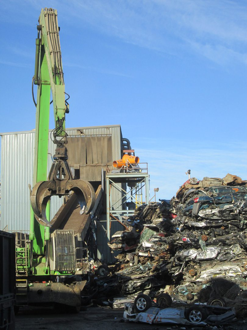 Auto Scrap Recycling Dust Control Using DustBoss DB-60 Mist Cannons