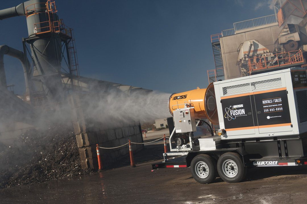 DB-60 Fusion Effective Dust Control in Recycling