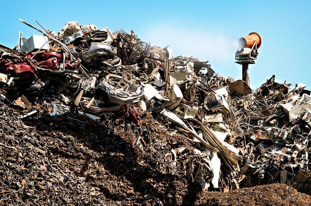 DB-60 Tower Dust Control for Shredded Scrap Metal