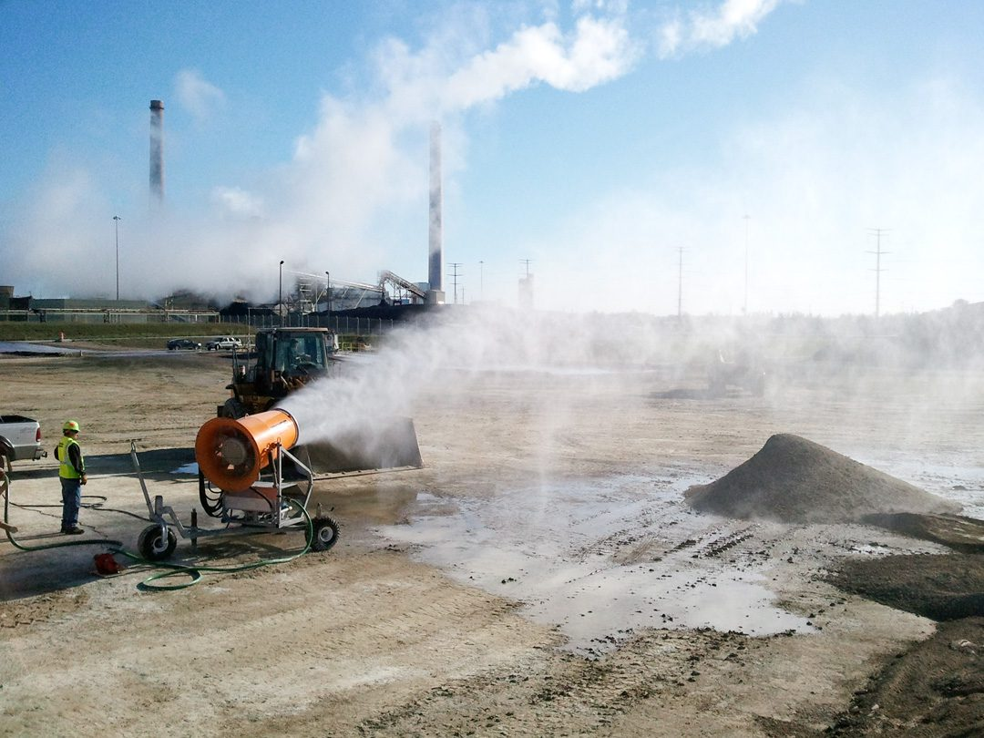 Dust Control at Power Plant