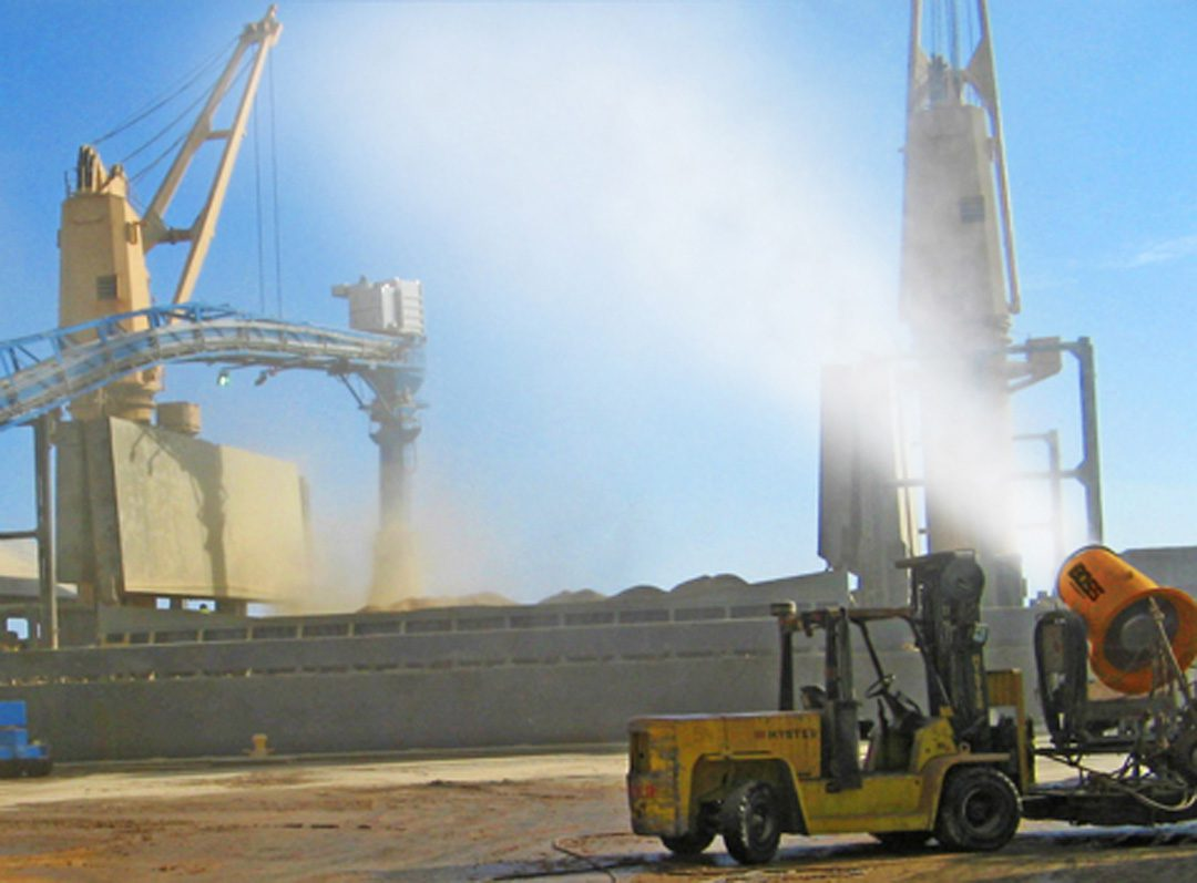 Dust Control for Loading Cargo at Ports
