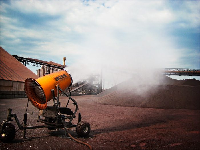 Dust Suppression at Port Terminal