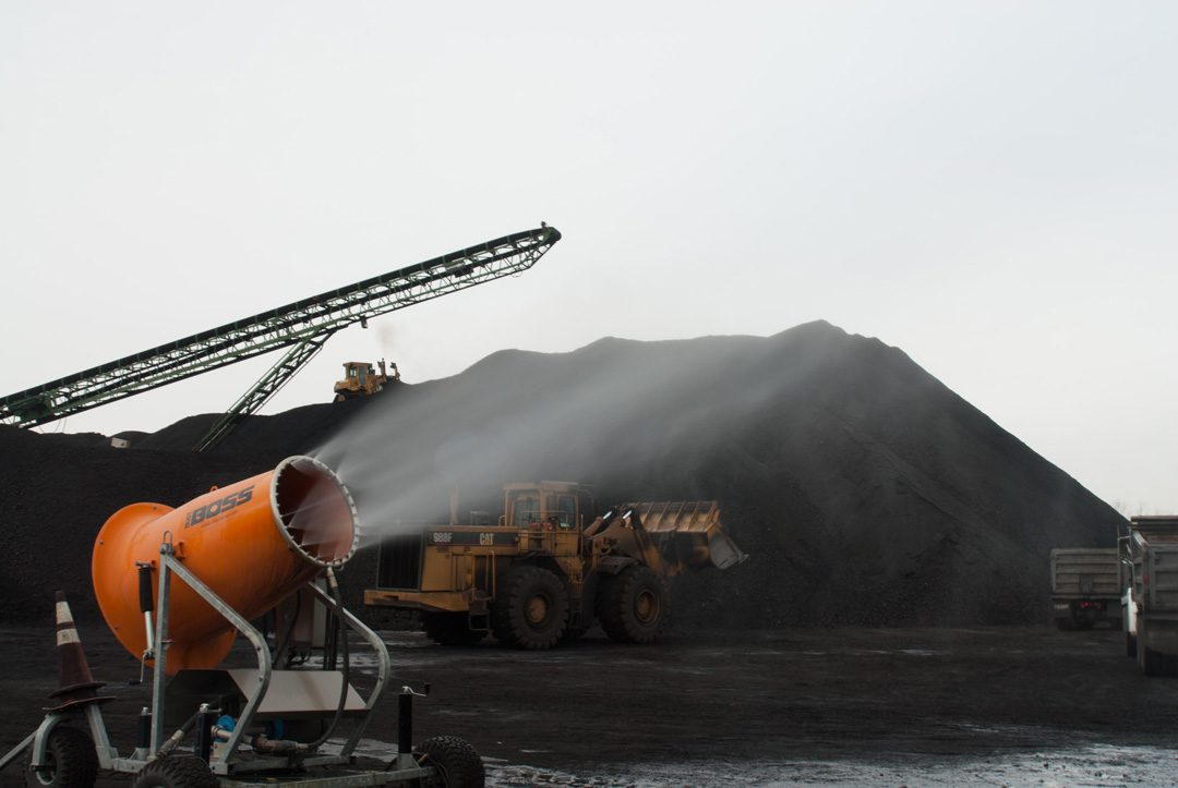 DustBoss Controls Dust Created from Loading and Transporting Coal