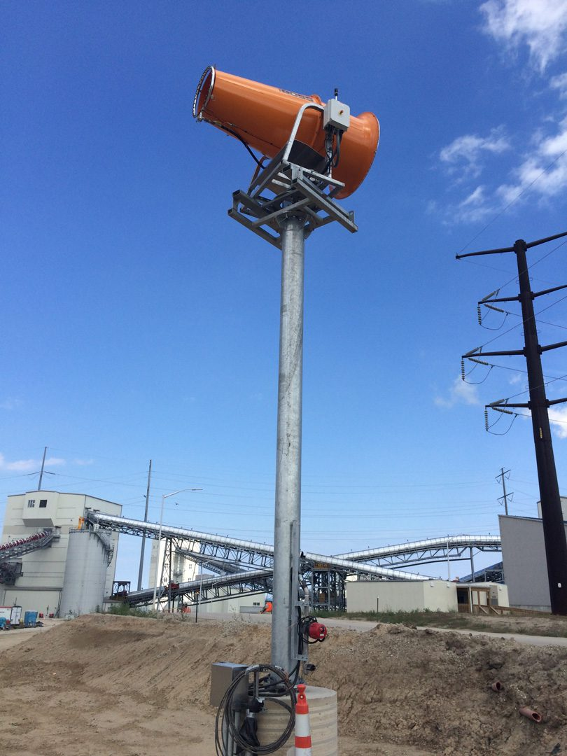 DustBoss DB-100 Tower Mounted Cannon for Stockpile Dust Control