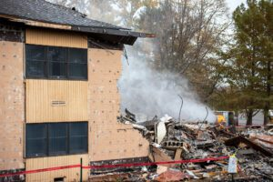DMS Contracting Housing Demolition Project Uses DustBoss for Dust Suppression