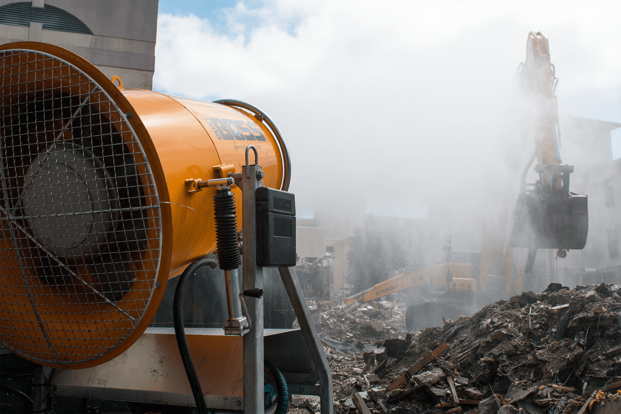 DustBoss Equipment Used to for Demolition Dust Suppression