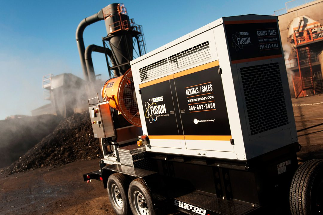 DustBoss Fusion Mobile Dust Control for Recycling