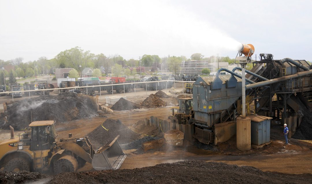 DustBoss Tower Units for Dust Control in Scrap Metal Recycling