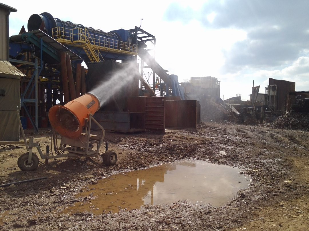 Mobile Dust Control Solutions for Scrap Metal Recycling