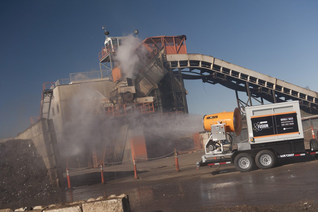 Mobile Dust Control for Scrap Recycling with DustBoss Fusion