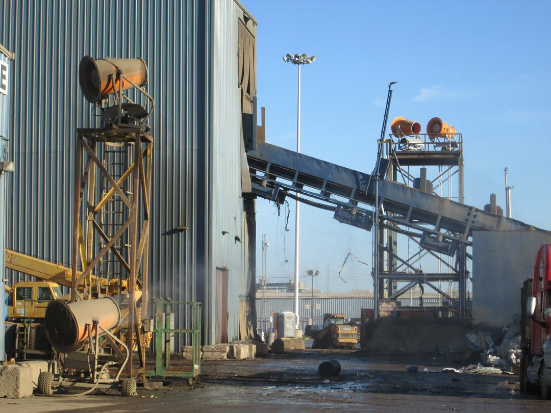 Mobile Dust Control in Scrap Metal Recycling with DustBoss Fusion