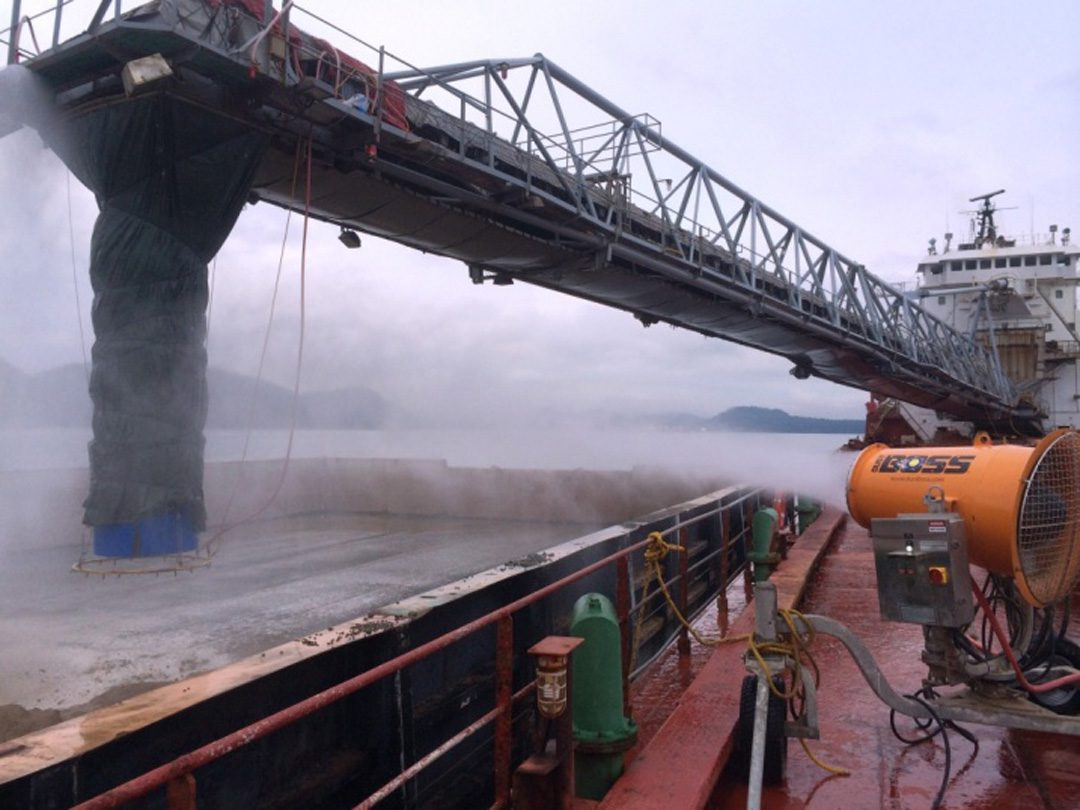 Terminal Cargo Loading Dust Control