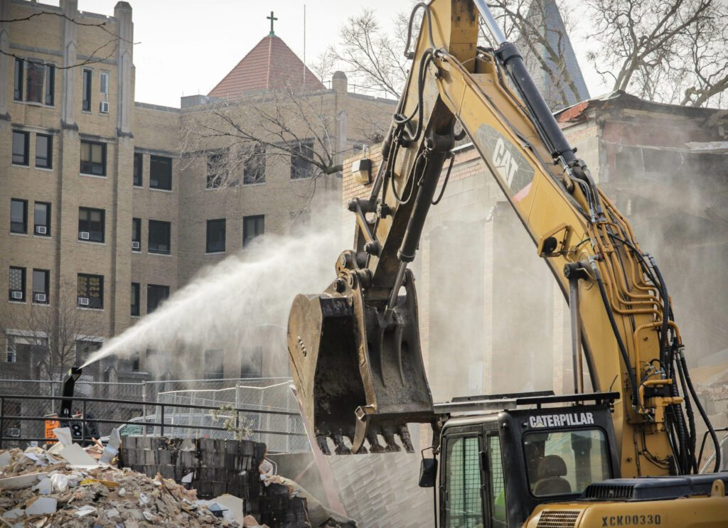 DustBoss Atom Dust Suppression at Demolition Site