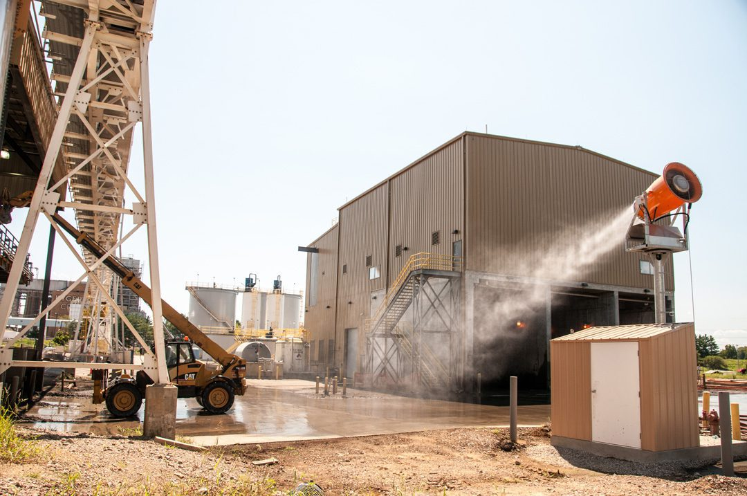 DustBoss DB-60 Dust Control in Transfer Station