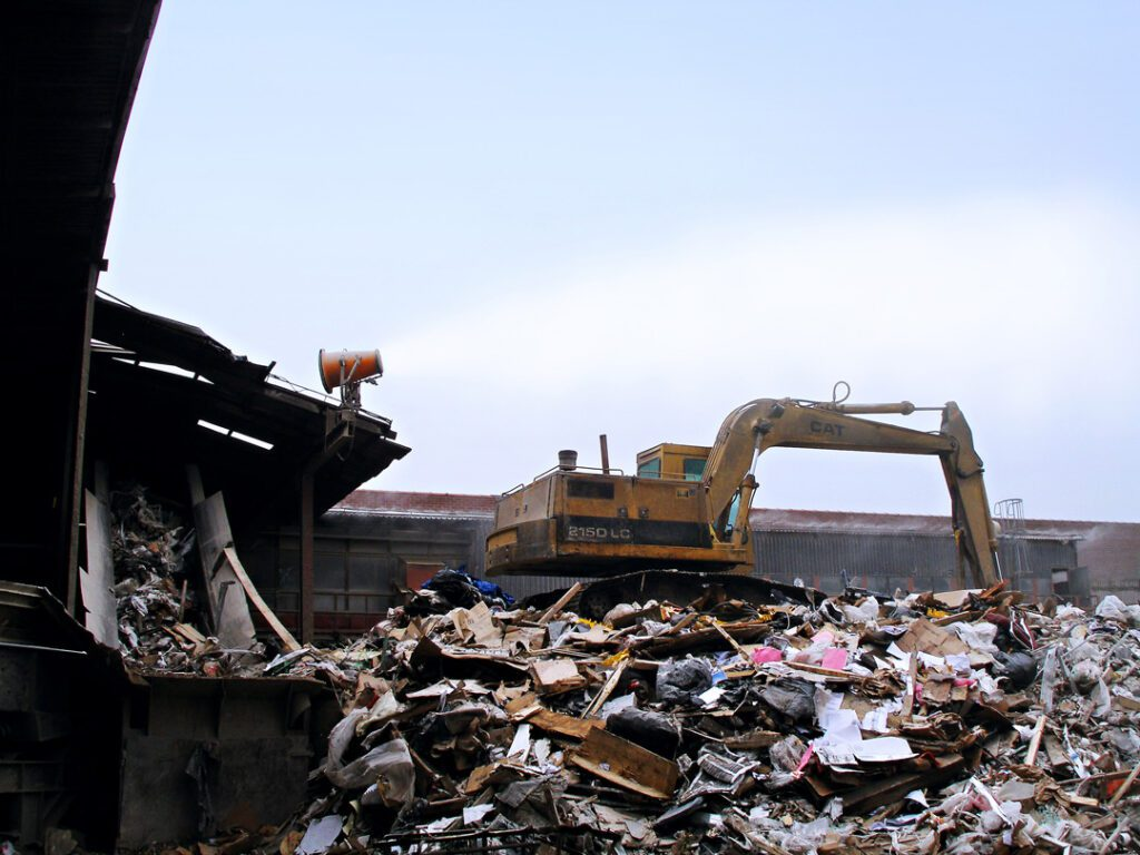 DustBoss Dust Control at Waste Recycling Facility
