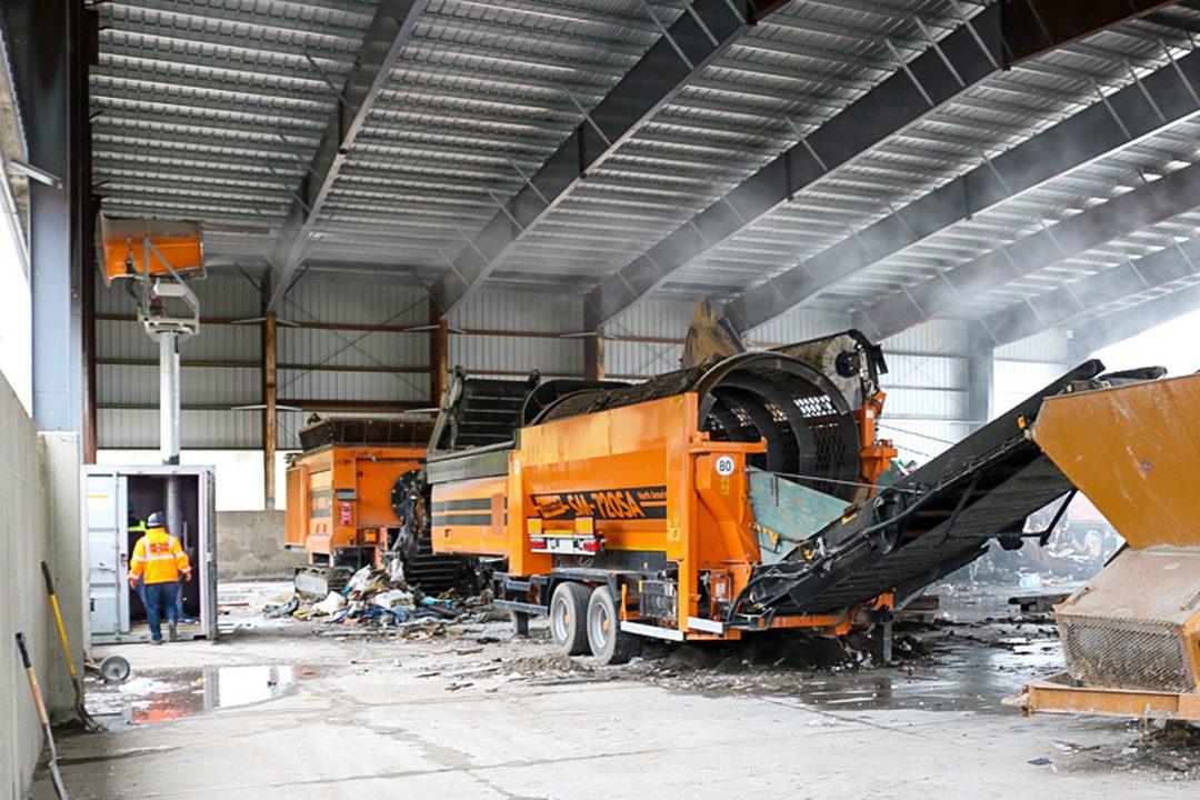 Installing Dust Suppression at transfer station
