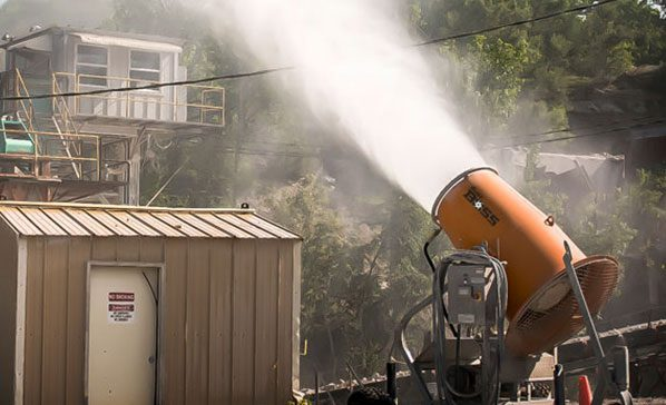 Using dust control for Silica Compliance