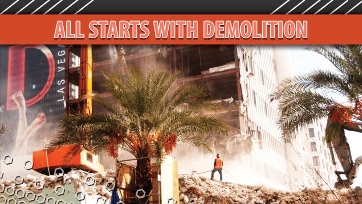 Dust control begins at demolition site in Las Vegas (Thumbnail)