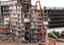 Colorado Demolition with Misting Dust Control