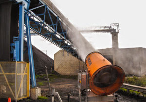 dust control for coal plant