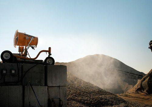 dust control for construction and demolition recycling