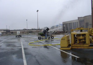 dust suppression at hotel demolition