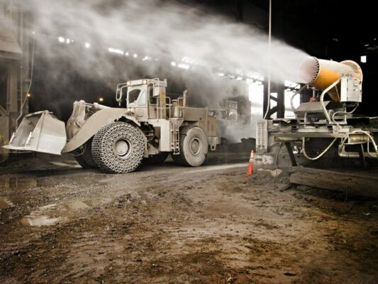 dust suppression in slag