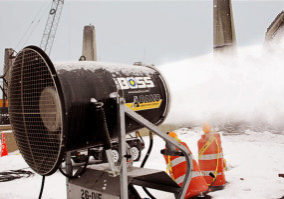 suppress dust at demolition site